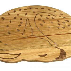Holzbrettchen Rehkitz für ein gesundes Frühstück
