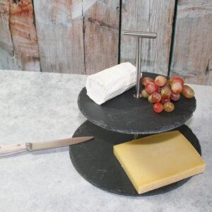 Slate Cheesy High –Etagérè aus Schiefer