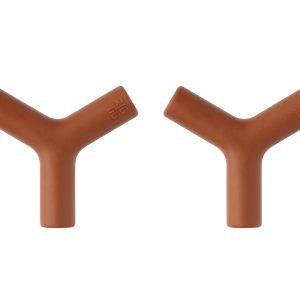 Wandhaken Tria orange im Zweier-Set