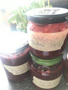 Himbeer-Basilikum-Marmelade